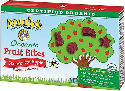 Annie's Homegrown Organic Fruit Bites - Orchard Strawberry Apple - 0.63 oz
