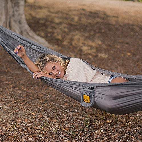 Wise Owl Outfitters Ultralight Camping Hammock with Tree Straps
