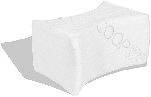 Coop Home Goods Adjustable Memory Foam Knee Pillow for Side or Back Sleepers
