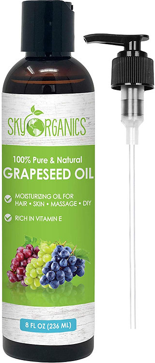 Grapeseed Oil by Sky Organics - 100% Pure, Natural & Cold-Pressed