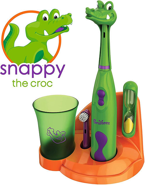 Brusheez Kid's Electric Toothbrush Set - Snappy the Croc
