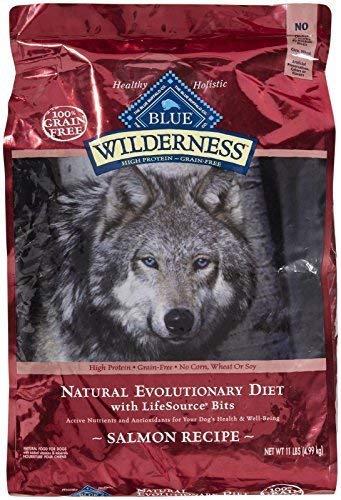 Blue Buffalo Wilderness Grain Free Dry Dog Food, Salmon Recipe, 11-Pound