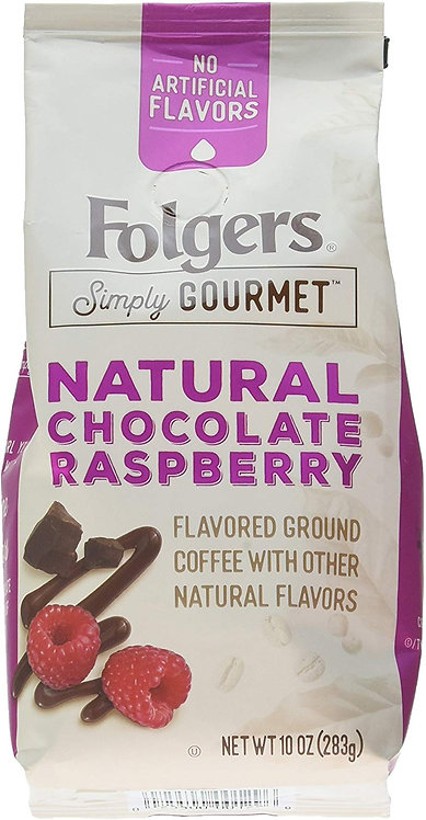 Folgers Simply Gourmet Flavored Ground Coffee  Chocolate Raspberry