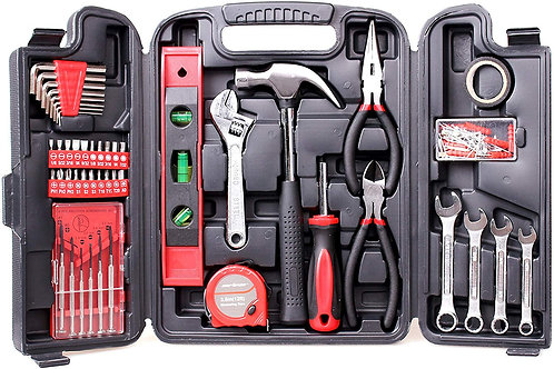 CARTMAN 136-Piece Tool Set - General Household Hand Tool Kit