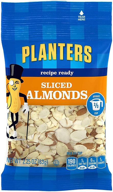 Planters Sliced Almonds, 2.25 oz