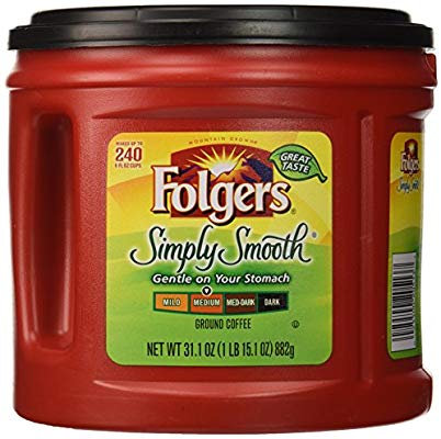 Folgers Simply Smooth Ground Coffee, Medium Roast