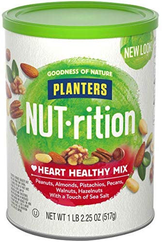 Planters NUT-rition Heart Healthy Mix, 18.25 oz Canister