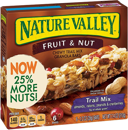 Nature Valley Chewy Granola Bar, Trail Mix, Fruit and Nut, 7.4 Oz