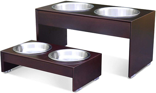 PetFusion Elevated Dog Bowl Stand in Premium Bamboo