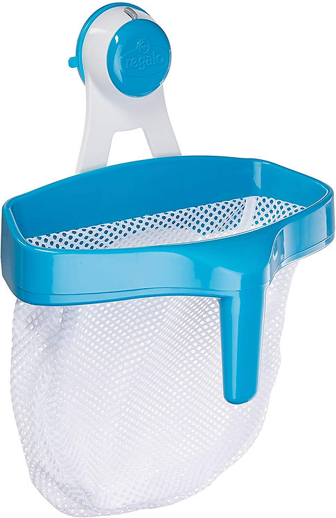 Regalo Super Suction Bath Toy Scoop Drain & Organizer