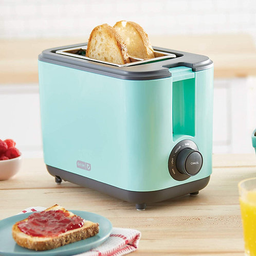 Dash DEZT001AQ 2 Slice Extra Wide Slot Easy Toaster with Cool Touch