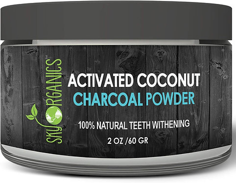 Sky Organics Teeth Whitening Activated Coconut Charcoal Powder (2oz)