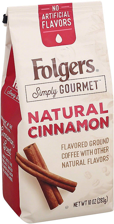 Folgers Simply Gourmet Flavored Ground Coffee with Cinnamon