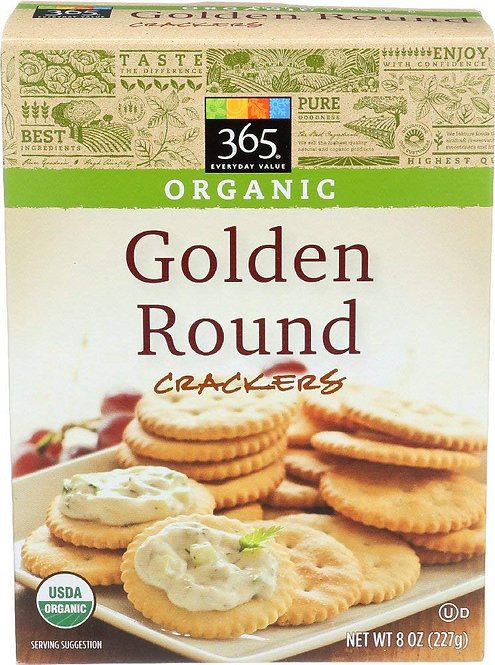 365 Everyday Value, Organic Golden Round Crackers, 8 Ounce