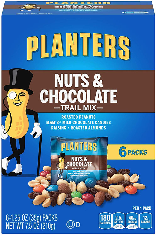 Planters Trail Mix Nuts & Chocolate, 7.5 oz