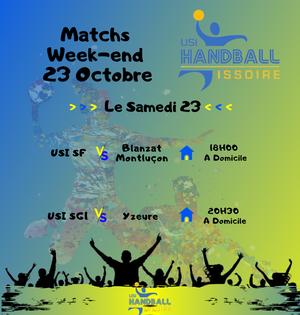 Match Week-end 23 Octobre