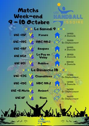 Match Week-end 9-10 Octobre