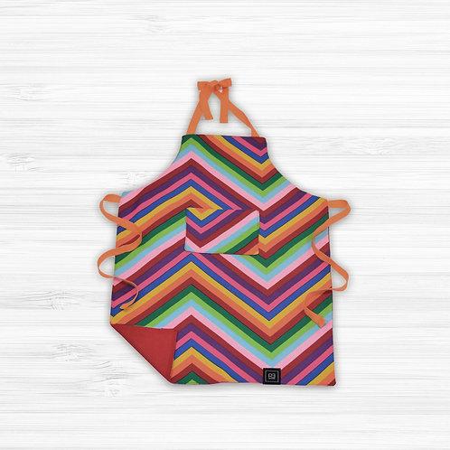Kid's Apron Rainbow Stripes