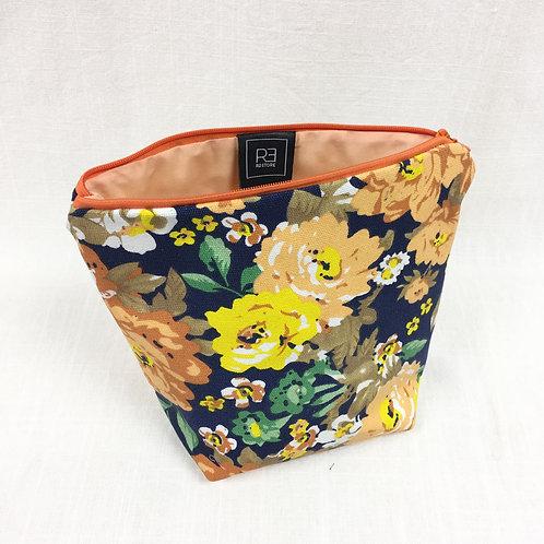 Cosmetic Bag Orange Florals