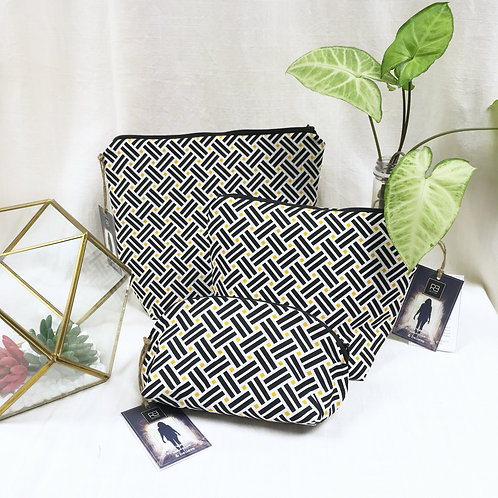 Cosmetic Bag Geometric Weaves