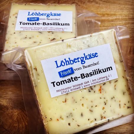 Neu: Löhbergkäse Tomate-Basilikum