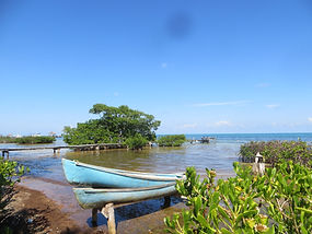 Canoeing around Caye Caulker, Belize