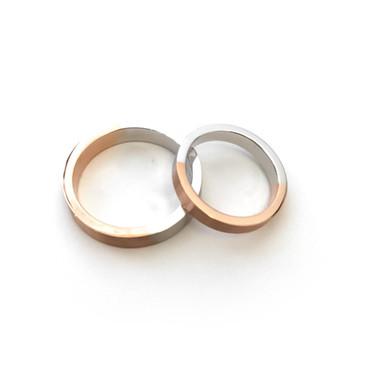 Two-Tone Initial Rings