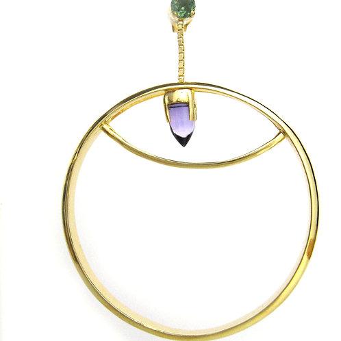 PENDULUM Large Hoop Earrings Gold