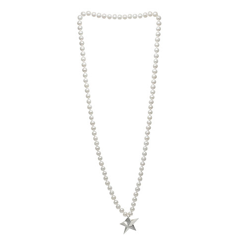 Big Star Long Pearl Necklace