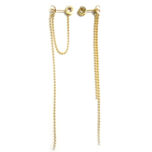 Double Strand Earrings Gold