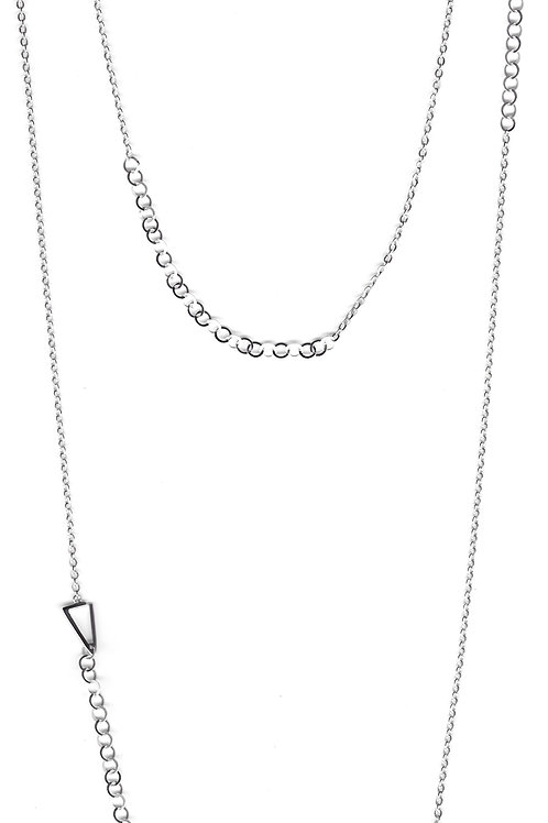Constellation Long Necklace in silver