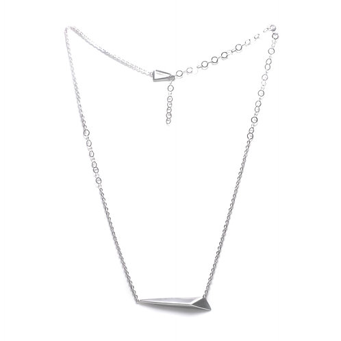Shooting Star Necklace in Silver