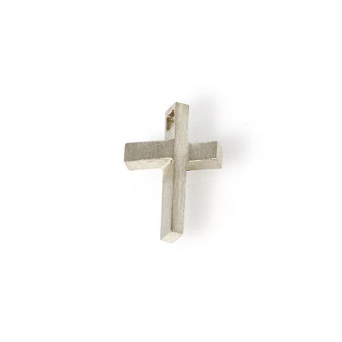 Silver Cross Charm