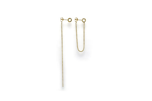 Bonding Earrings in Gold Vermeil