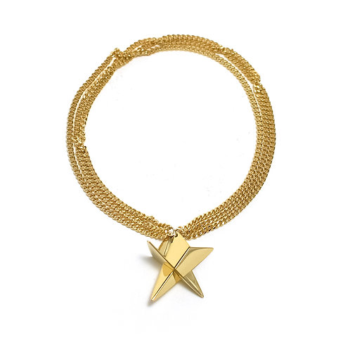 3 Strands Star Bracelet in Gold Vermeil