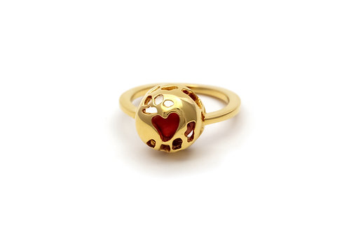 Love Seed Round Ring Gold