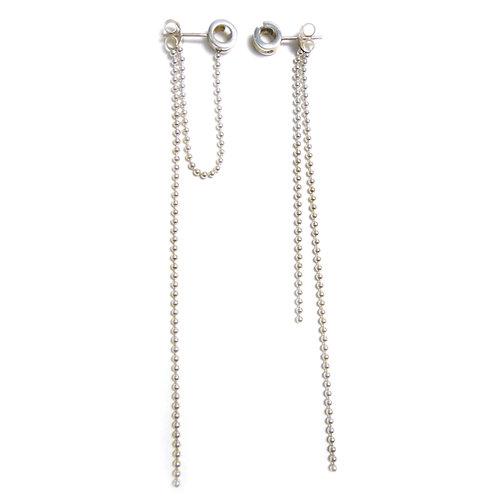 Double Strand Earrings Silver