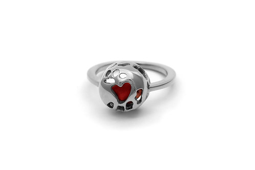 Love Seed Round Ring Silver