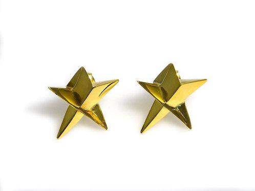 Star Stud Earrings in 18K Gold Vermeil