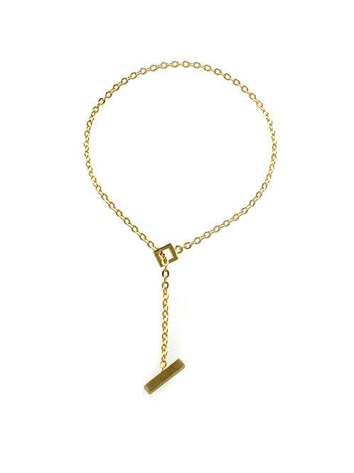 T-Bar Bracelet in Gold