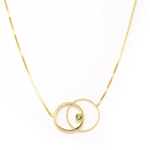 Eclipse Clasp Necklace with Green Tourmaline