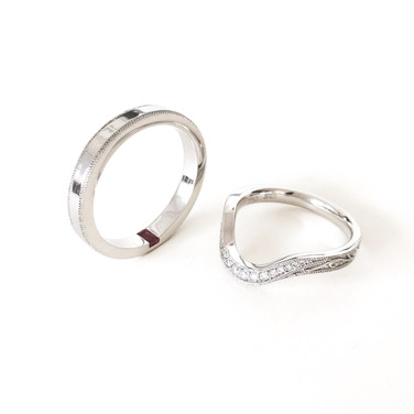 18K white-gold, with ruby and diamonds.
