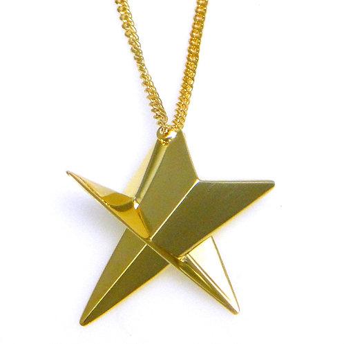 Big Star Necklace in18K Gold Vermeil