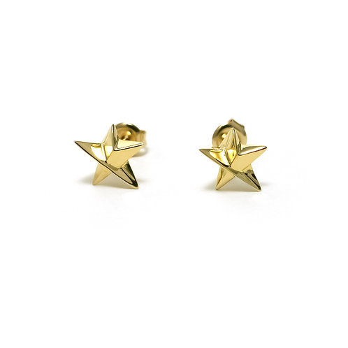 Star Studs Small Earrings in Gold Vermeil