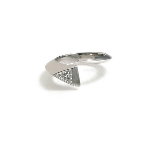 Shooting Star Ring with White Topaz in Silver