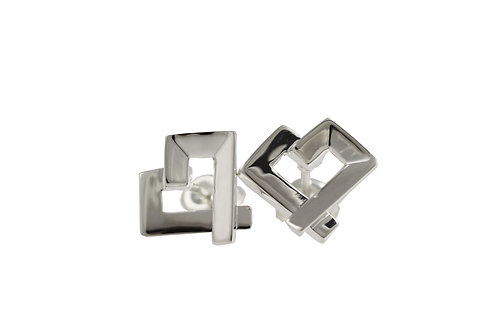Square Heart Studs