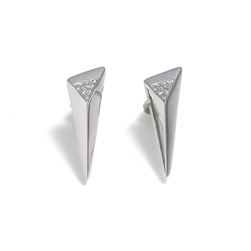 Shooting Star Earrings with white topaz in Silver