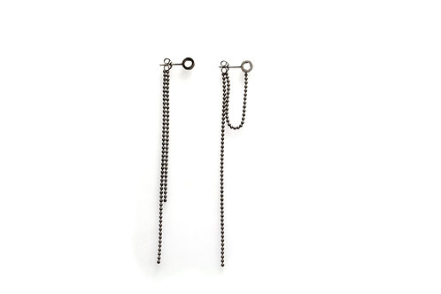Double Strand Earrings in Black