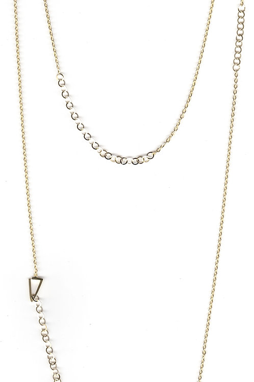 Constellation Long Necklace in gold