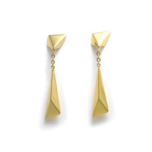 Stardust Shooting Star Earrings in Gold